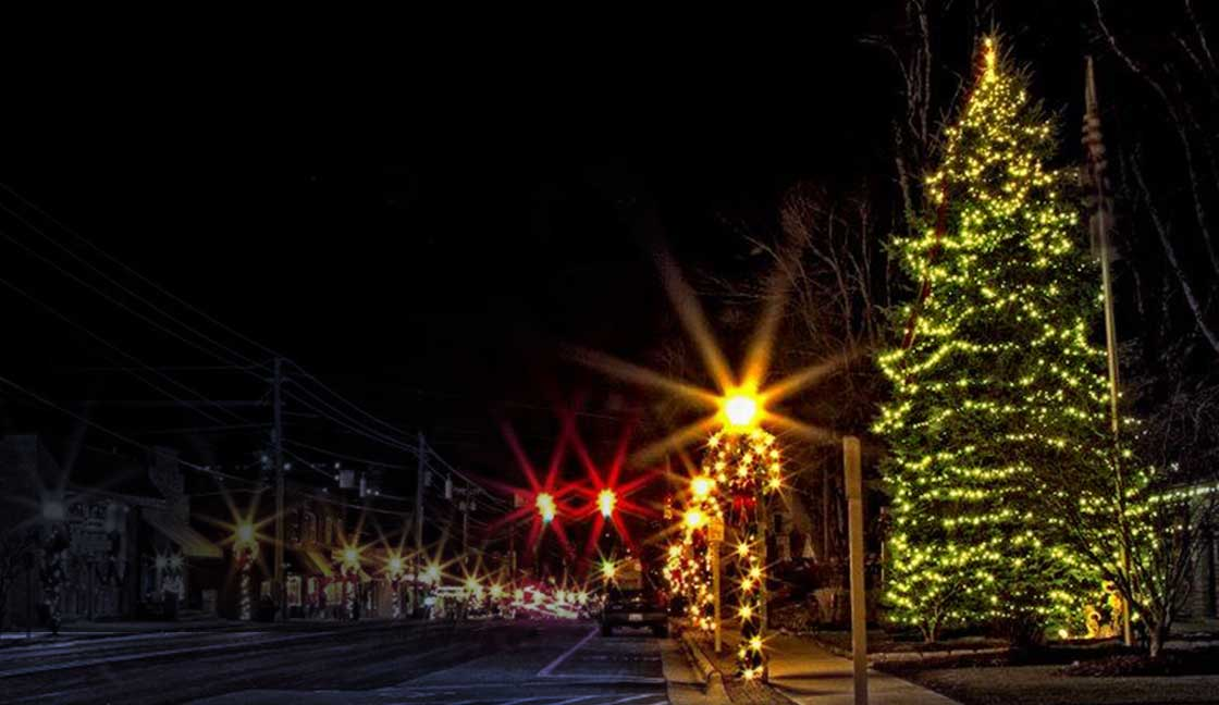 White Lights in Blowing Rock